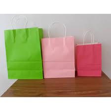 <b>20 pcs</b> Color Paper bag <b>Small</b> :21cm x 15cm x 8cm <b>gift</b> bag plain ...