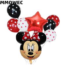 <b>8PCS</b>/lot <b>Mickey</b> Mouse Head <b>Foil</b> Balloons Miraculous Ladybug ...