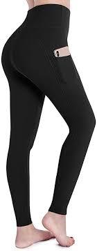 OUGES Womens High Waist Pockets Yoga Pants ... - Amazon.com