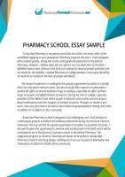pharmacy residency letter of intent sample by pharmacyapplication    pharmacy school essay sample by pharmacyapplication