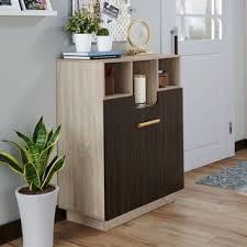 Shop Furniture of <b>America</b> Toby Transitional Oak <b>Solid wood Shoe</b> ...