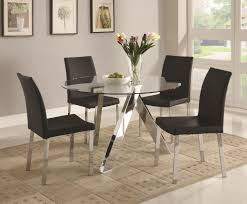 glass top dining table white