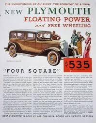 1931 Plymouth <b>Vintage</b> Advertisement Antique Car Wall Art <b>Classic</b> ...