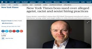 Image result for New York Times boss sued over alleged ageist, racist and sexist hiring practices