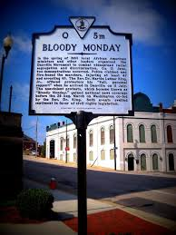 television news and the civil rights struggle the views in bloody monday historical marker danville virginia erected 2007 photograph courtesy of flickr