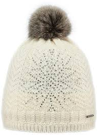 new barts celeste cream <b>adult</b> beanie <b>faux fur</b> pom hat <b>women's lady</b>