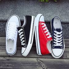<b>Men's</b> Vulcanize <b>Shoes</b> Classic Canvas <b>Shoes Solid</b> Lace up ...