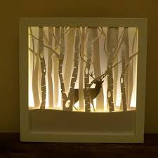 this winter stag framed night light is perfect for any room or nursery this drsign baby room lighting ideas