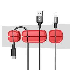 <b>Baseus Cross Peas</b> Cable Clip - Red - D&H Innovation