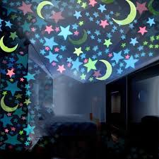Generic <b>100PC Kids Bedroom</b> Fluorescent Glow In The Dark Stars ...