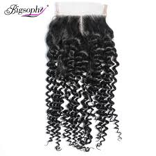 <b>Bigsophy Peruvian Hair</b> Kinky Curly Lace Closure 4*4 Human Remy ...