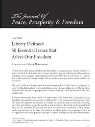 liberty defined essential issues that affect our dom book liberty defined 50 essential issues that affect our dom book review ron paul