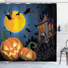Ambesonne <b>Halloween</b> Shower Curtain, <b>Gothic Halloween</b> Haunted ...