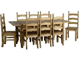 distressed waxed mexican pine extending dining set