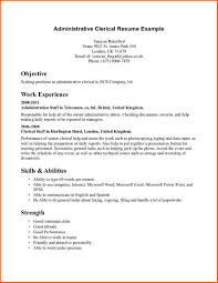 resume clerical resume sample clerical resume sample image full size