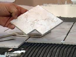 diy tile kitchen countertops: make small notch in corner tile if needed