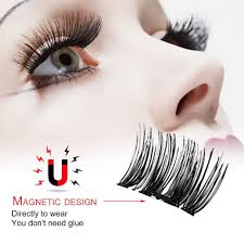4 Pcs Glue Free Eyelashes <b>3D Magnetic False Eyelash</b> Soft ...