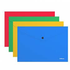 <b>Папка</b>-конверт на кнопке пластиковая <b>ErichKrause</b>® Classic ...