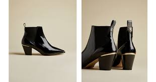 High shine <b>western leather</b> boots - <b>Black</b> | Boots | Ted Baker ROW