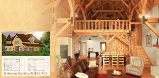Wood  amp  Horse Barn Homes   Garages Loft Living   Sand Creek Post  amp  Beam    predesigned barn kits  amp  floor plans