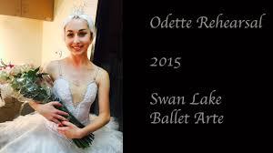practicing odette for swan lake ballet arte