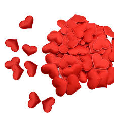 <b>100Pcs 35mm Romantic Sponge</b> Satin Fabric Heart Petals Wedding ...