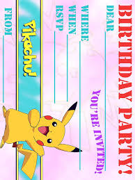 pokemon birthday party invitations templates pokemon birthday invitation wording