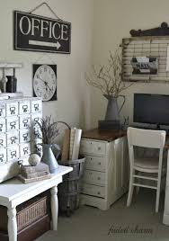love the office sign junk chic cottage saturday spotlight life behind the blogger build rustic office desk