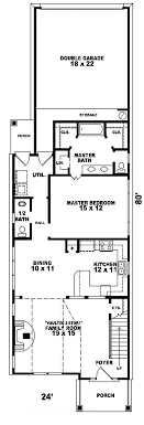 Peachwood Trail Narrow Lot Home Plan D    House Plans and MoreWaterfront House Plan First Floor   D    House Plans and More