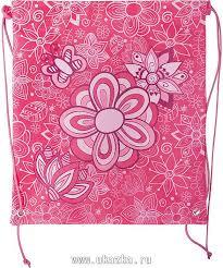 "<b>Мешок для обуви Action</b> by Tiger, ""Цветы"", 37 х 32 см, розовый"