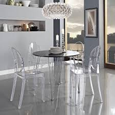 transparent dining chairs