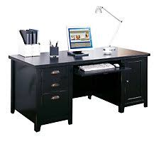 tribeca loft black computer desk mrt tl685 black office desks