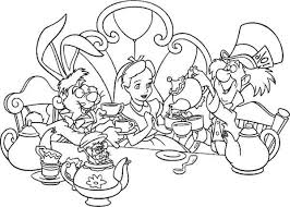 Small Picture Alice In Wonderland Coloring Pages Coloring Pages For Kids