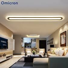 <b>Omicron Modern</b> Long Strip <b>LED</b> Ceiling Lights <b>Acrylic</b> White ...