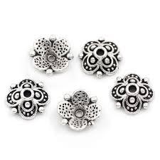 100 шт. бусины наконечники выводы четыре старинное серебро ...