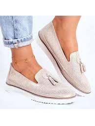 Fashion casual <b>tassel</b> flat shoes 25272785 BERRYLOOK недорого ...