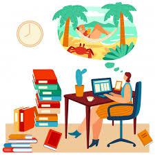 <b>Woman</b> work laptop but dreams about beach, tropical <b>travel</b>, <b>female</b> ...