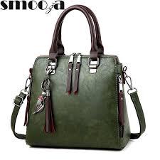 SMOOZA <b>Pu Leather Handbag</b> Shoulder <b>Tote</b> Women <b>Bag</b> Satchel ...