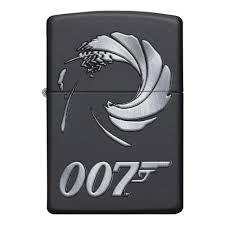 <b>Зажигалка ZIPPO James Bond</b> с покрытием Black Matte, чёрная ...