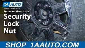 How To Remove a Security Lug <b>Nut</b> Without The Correct Key ...