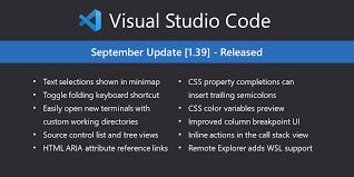Visual Studio Code September <b>2019</b>
