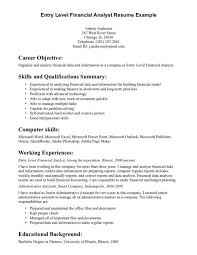 resume example   entry level resume objective examples examples of        entry level resume objective examples examples of resume objectives entry level financial analyst resume example entry