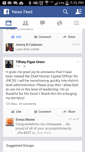 dr tiffany green d school system s new hr director dr tiffany green s facebook post announcing new job