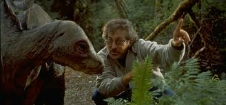 steven spielberg spectacular attractions spielberg directing a dinosaur on the set of jurassic park the lost world