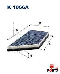 K1066A <b>Фильтр салона</b> PEUGEOT 206 <b>угольный</b> FILTRON ...