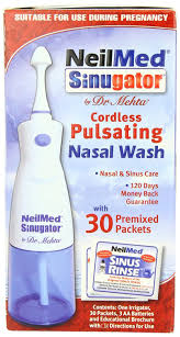 com neilmed sinugator cordless pulsating nasal wash com neilmed sinugator cordless pulsating nasal wash 30 premixed packets health personal care
