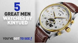 Top 10 <b>Kinyued Men Watches</b> [ Winter 2018 ]: <b>KINYUED Skeleton</b> ...