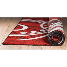 stepa red paisley memory foam rugs