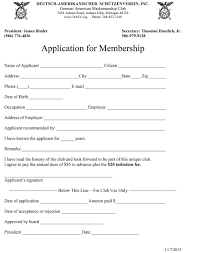 application for membership german american marksmanship club in order to become a member of the d a s v an application must be filled out and returned to the d a s v a check attached for the total amount due