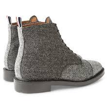 Thom <b>Browne</b> – Herringbone Tweed Derby Boots | Media Anarchist